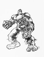 Another Hulk Sketch by quahkm