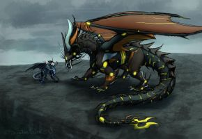 DF: Predaking and his chewtoy by JazzTheTiger