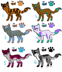 adoptables (leftover contest entries) by wildstar582