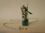 HP: Slytherin Pendant-Charm by Purple-Rage