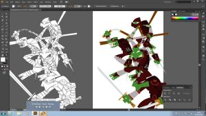 TMNT (w.i.p.) by placitte2012