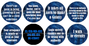 Doctor Who Old School Buttons by DarthRegina125