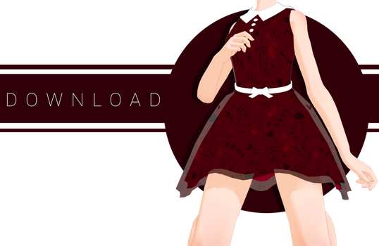 [MMD] Rose Dress + Dl by kitten-S