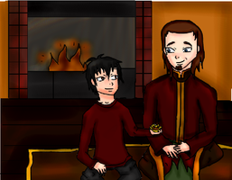 "Bonding at the ""fire"" by Honneybear"