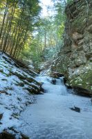 Down in a Hole - Chesterfield Gorge, NH by AlpoArts