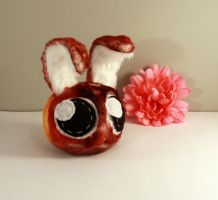 little red tie dye bunny by Jadetiger