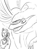 Request Flood 3 Storm's Prof and Monster by TicklishSocks