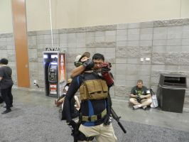 Phoenix Comicon 2015-MGS5:CQC throat slit by Demon-Lord-Cosplay