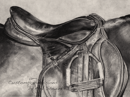 Photorealism English saddle by MelShwanke