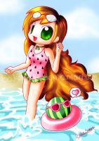 Watermelon Summer by lemonadepink