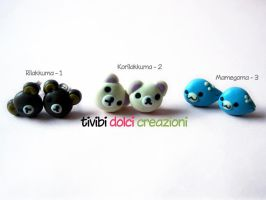 Rilakkuma Stud Earrings by tivibi