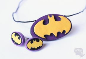 Batgirl Jewellery Set by xcalixax