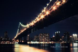 New York - Manhattan Bridge by DarkSaiF