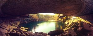 Hamilton Pool at Sunset by LeGreg