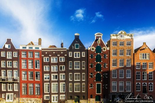 Amsterdam Damrak by Nightline