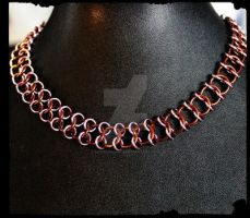 Chocolate and Pink by EKChainmaille