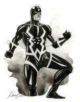 Blackbolt -HeroesCon 2014 sketch by kevinwada