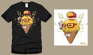 Hipster Cone Shirt by MarcosMachina