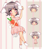 Tewi and her carrot by nicolecchi