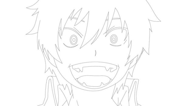 Cute Rin Okumura: line art by NinaWH94