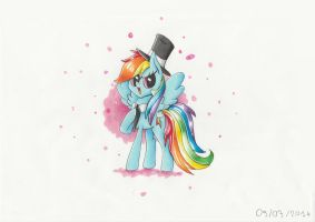 Commission : Fancy Rainbow Dash by PumpkinKikile