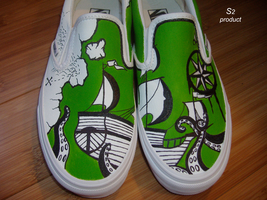 green shoes by S2shoes