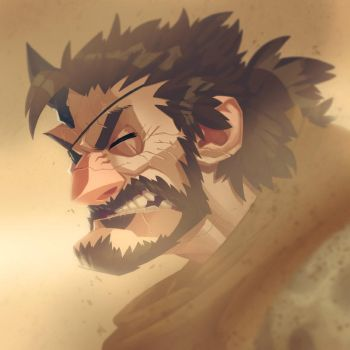 Big Boss - Braving the (Sand)storm by Zatransis