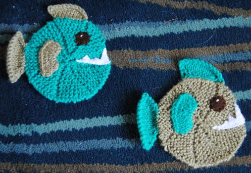 Piranha Coasters by themagpiesnest