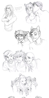 Shorter sketchdump of stuffs and things by Inkyness