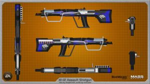 M-12 AA Assault Shotgun by Jknight3135 wallpaper by rex3cutor