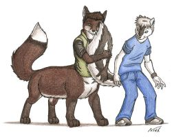 A friendly tail by BrownFox
