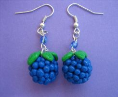 Blueberry Earrings by ClayMyDay
