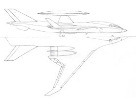 EC-52 AWACS drawing by Venom800TT