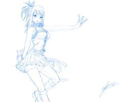Lucy Heartfilia - SKETCH by jadeedge