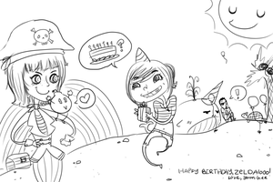 pirate party sketch by yoon-hee