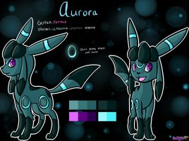 Commission - Aurora reference sheet by Skoryx