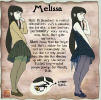 character sheet: Melissa by KuroSy