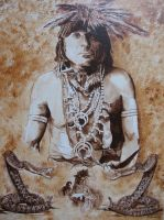 Hopi Indian Snake Dancer, Shaman by McCaslin