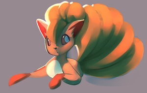 13000 kiriban vulpix by polywomple