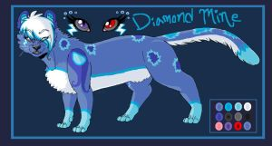 .:Diamond Mine Character Ref:. by hakura-lives