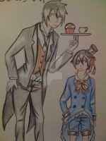 Sebastian and Ciel by ruzovymonster