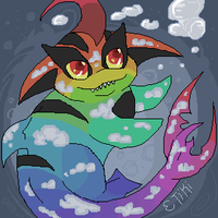 Pootsam and Underwater Clouds by Etiki