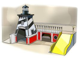 Lighthouse Playscape by obxrussell