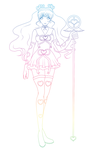 Angelic Sailor Crystal Rainbow Line Art by The-Devil-Butterfly