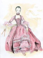 Gown a'la francaise by Itonia