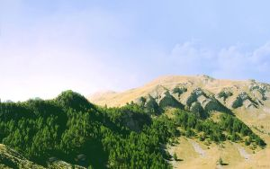 Landscape0008 - Green Canyon by Toomi5