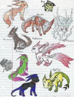 eeveelutions by melodyprower11
