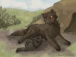 Hopkit and Hawkheart by CascadingSerenity