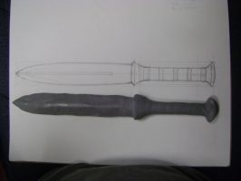Annabeth's knife in the making by Kristheblade