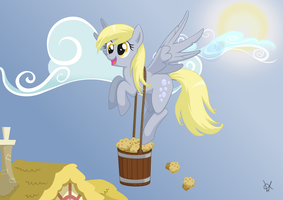 Derpy's delivery by Isegrim87